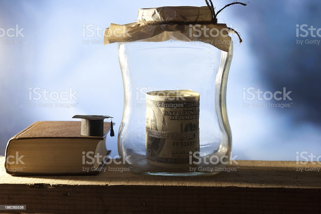 Money for college. royalty-free stock photo