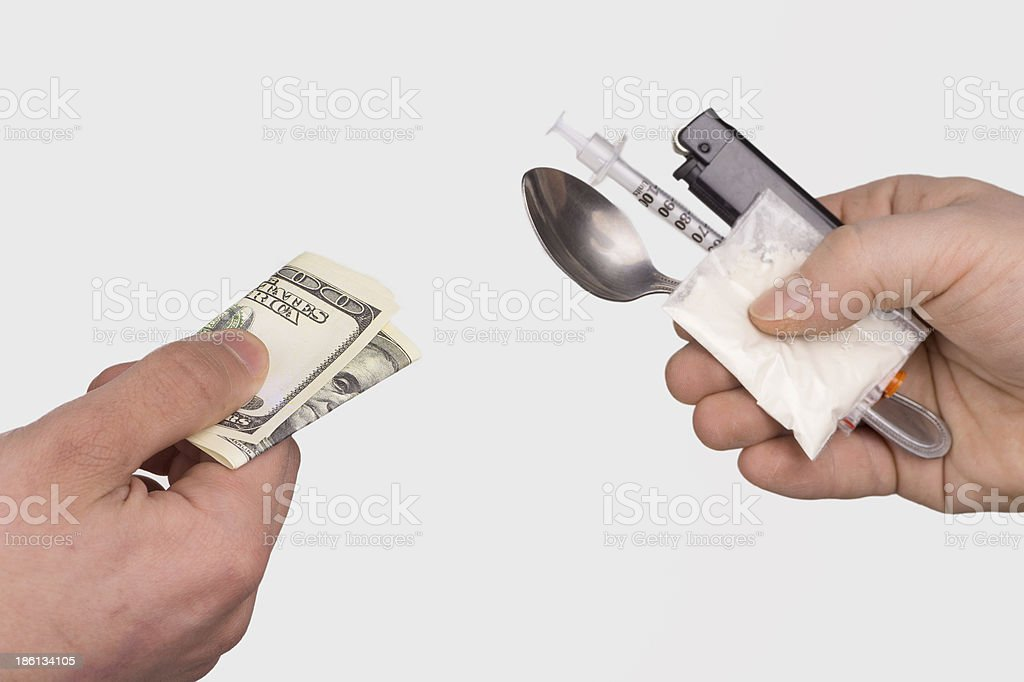 Money For Drugs royalty-free stock photo