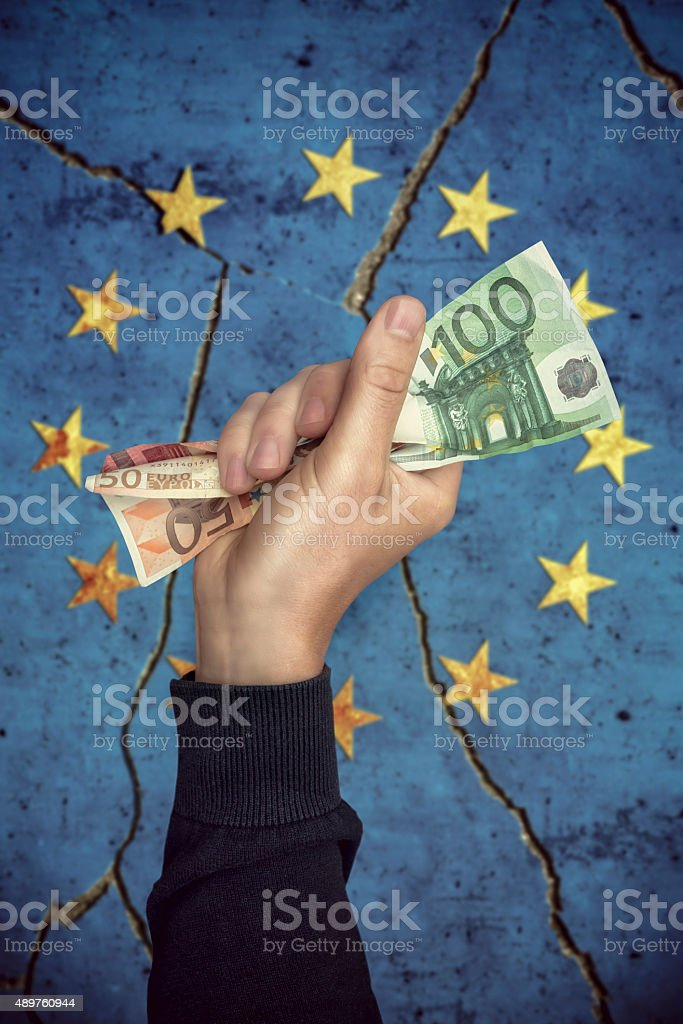 money for Europe stock photo