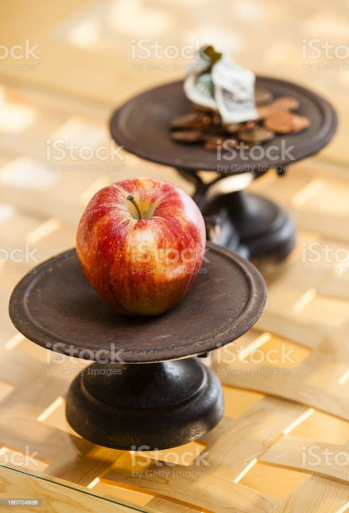 money for food royalty-free stock photo