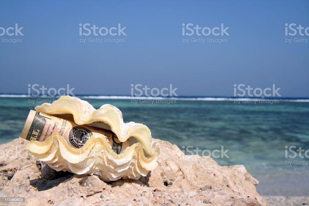 Money for holiday royalty-free stock photo