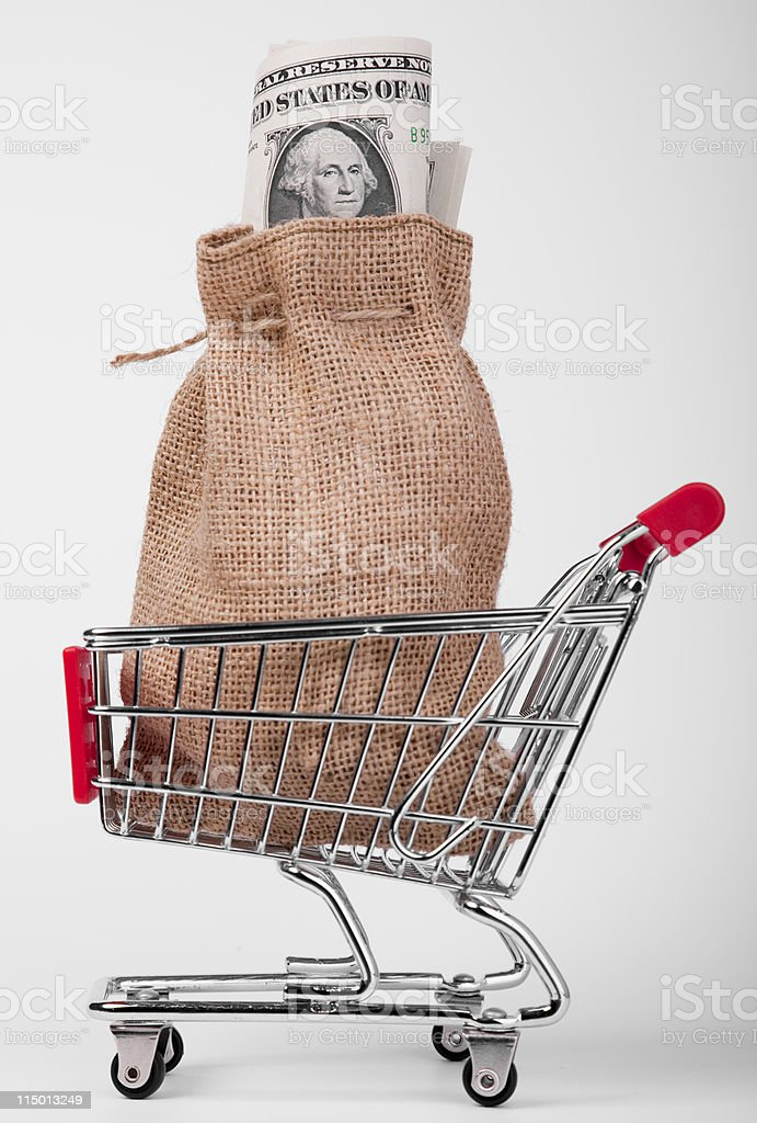 Money for shopping royalty-free stock photo