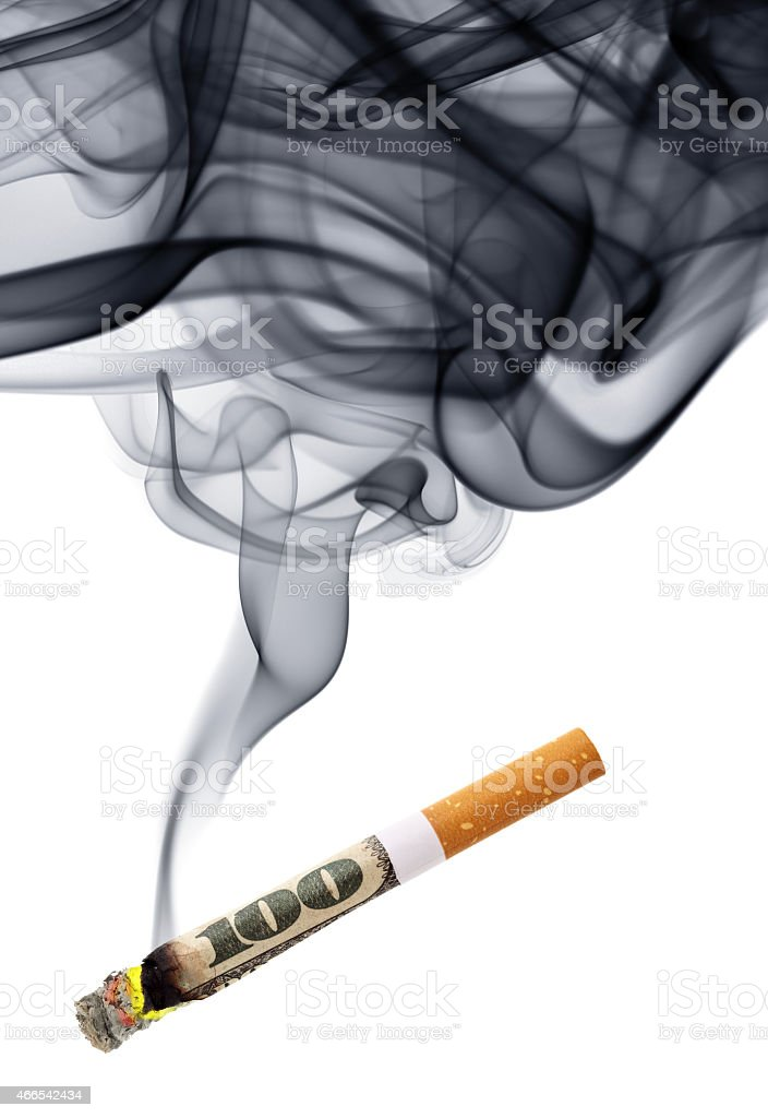 Money for smoke stock photo