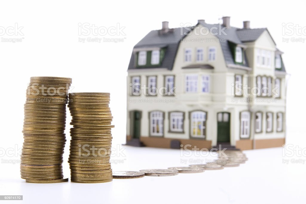 money for the house stock photo