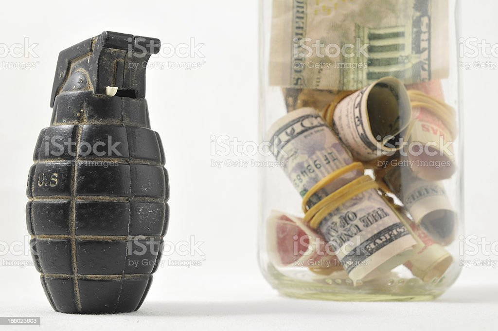 Money for War Concept royalty-free stock photo