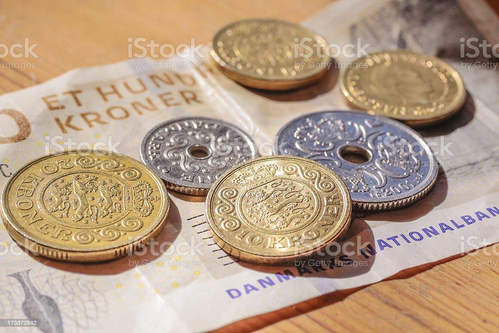 Money from Denmark royalty-free stock photo