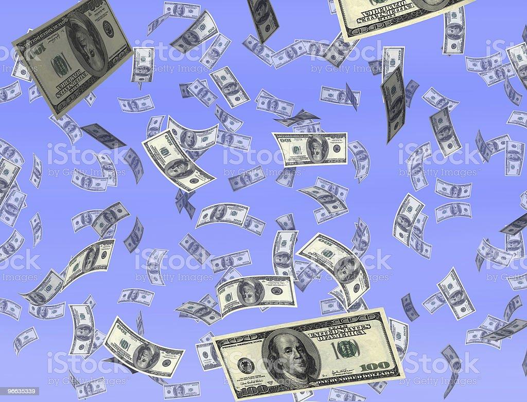 Money from heaven stock photo
