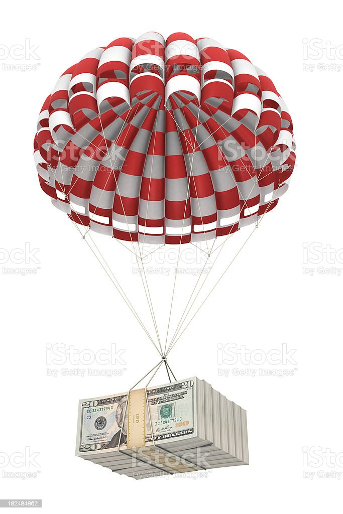 Money from the sky stock photo