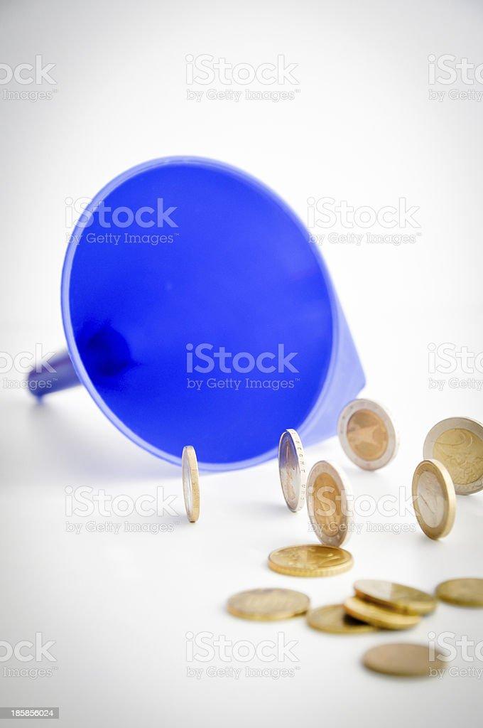 money funnel royalty-free stock photo