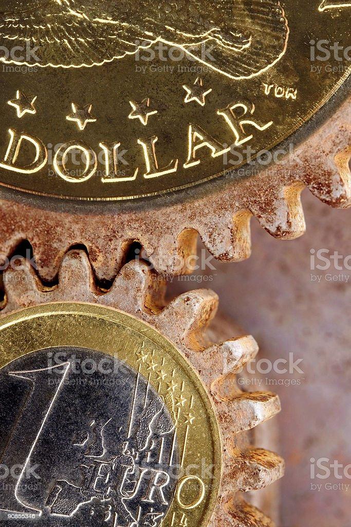 Money gears royalty-free stock photo