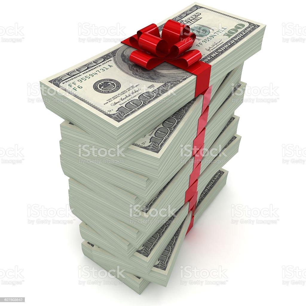 Money gift concept stock photo