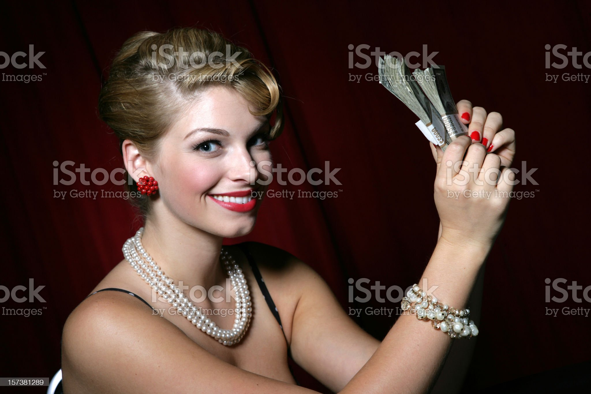 Money Girl royalty-free stock photo