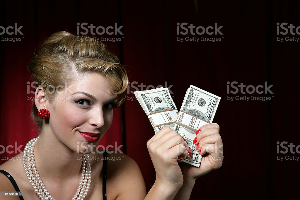 Money Girl stock photo