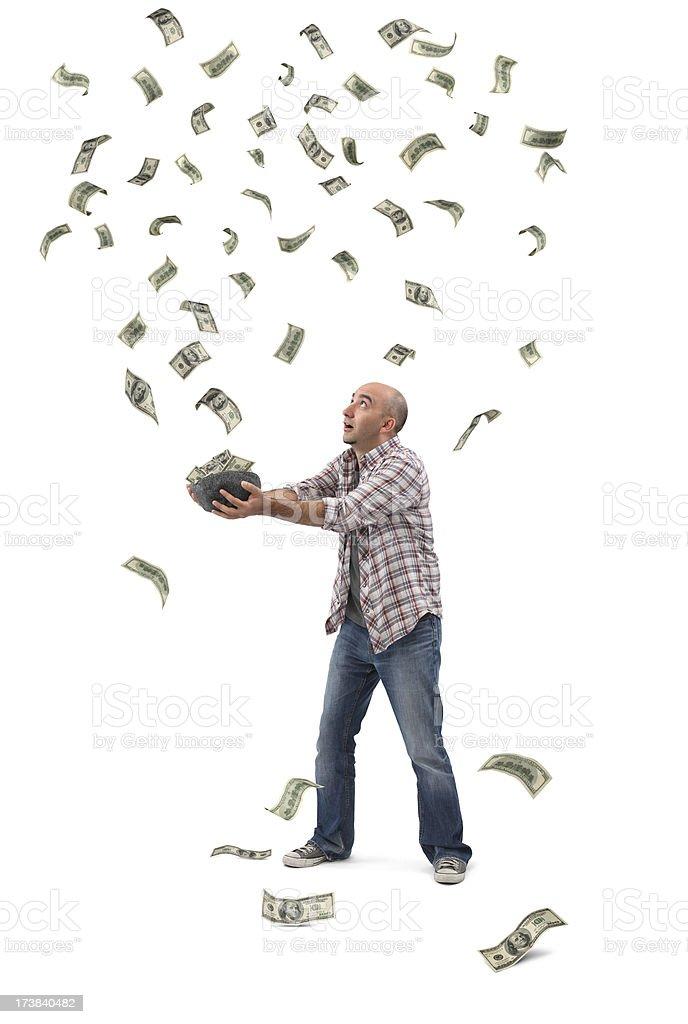 Money Grabbing royalty-free stock photo