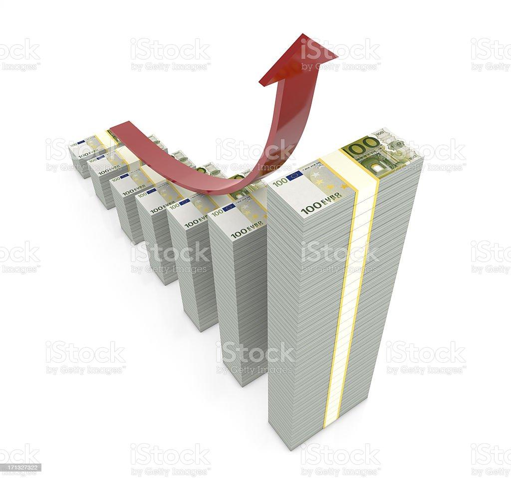 Money Graph royalty-free stock photo