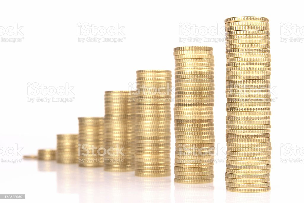 Money graph. royalty-free stock photo