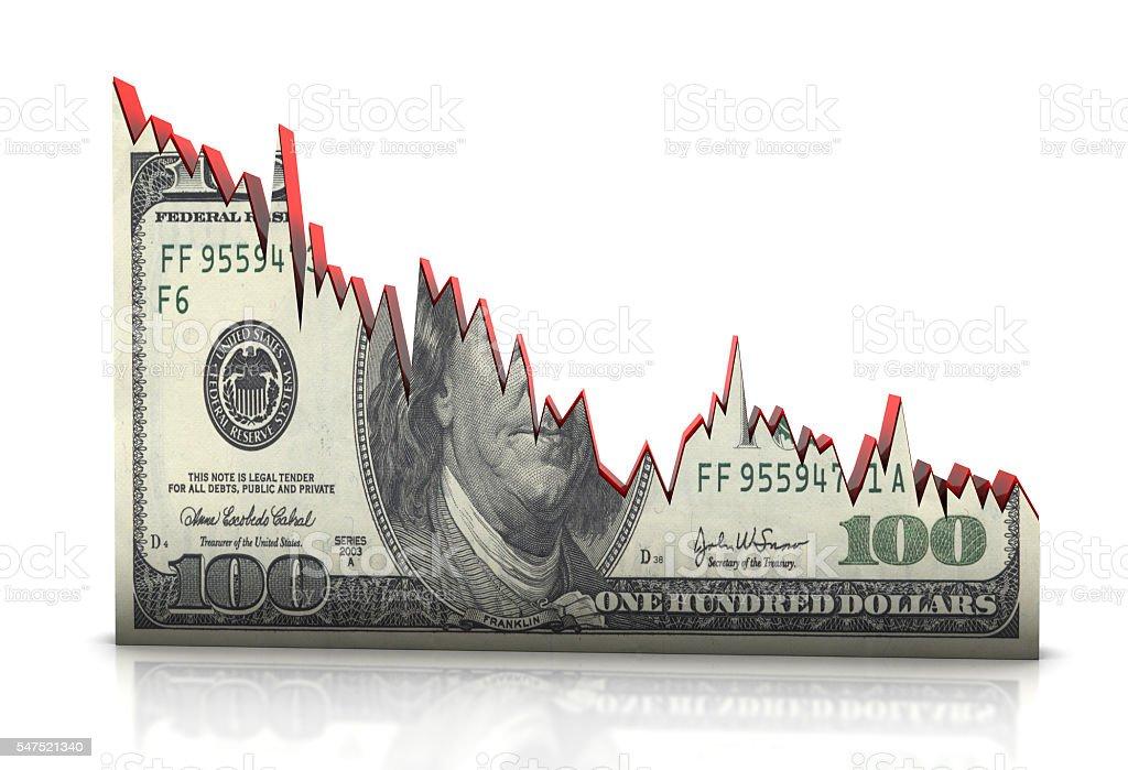 Money Graph stock photo