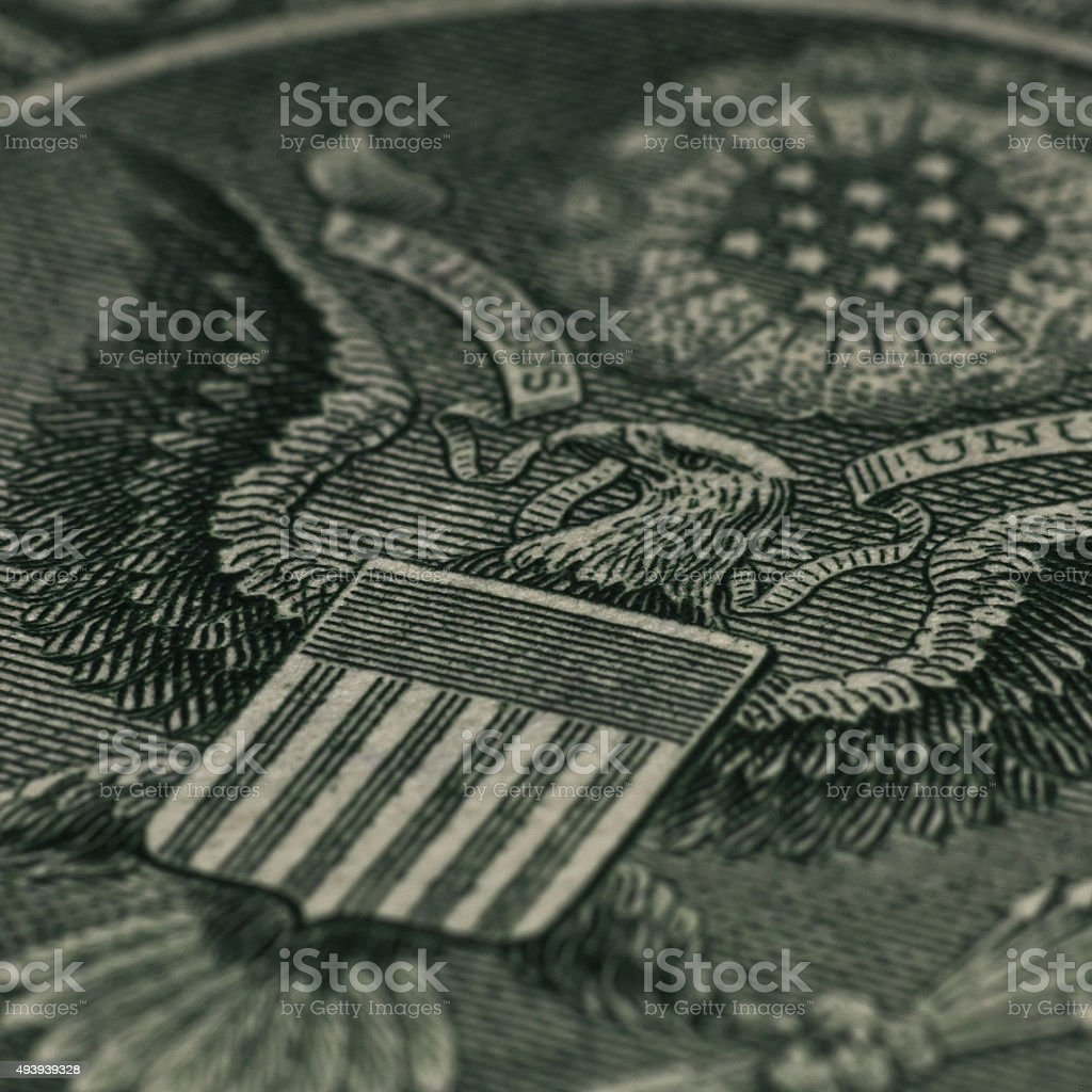 Money. Great press of the USA stock photo