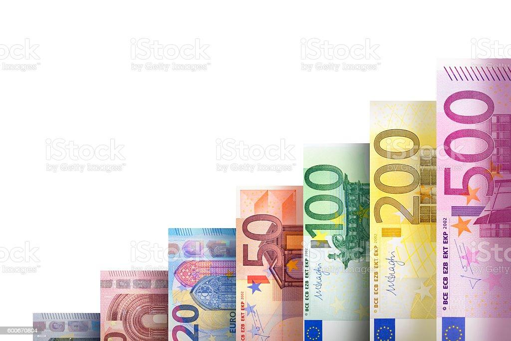 Money growth graph stock photo