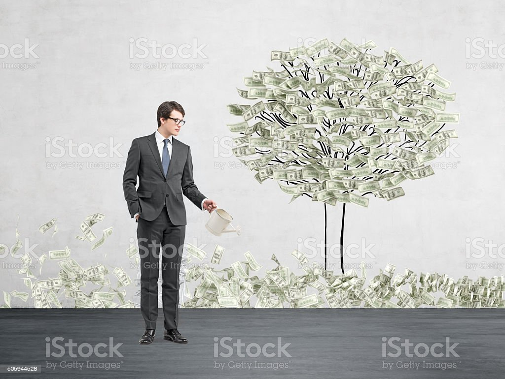 Money growth stock photo