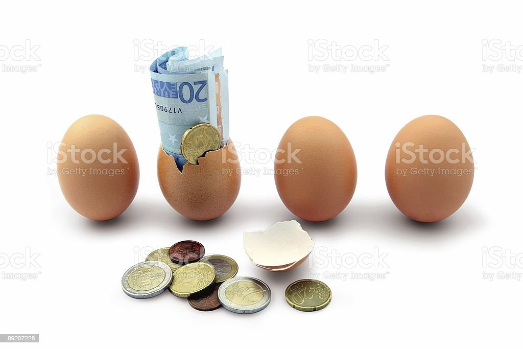 Money hatching - finance/investment concept royalty-free stock photo