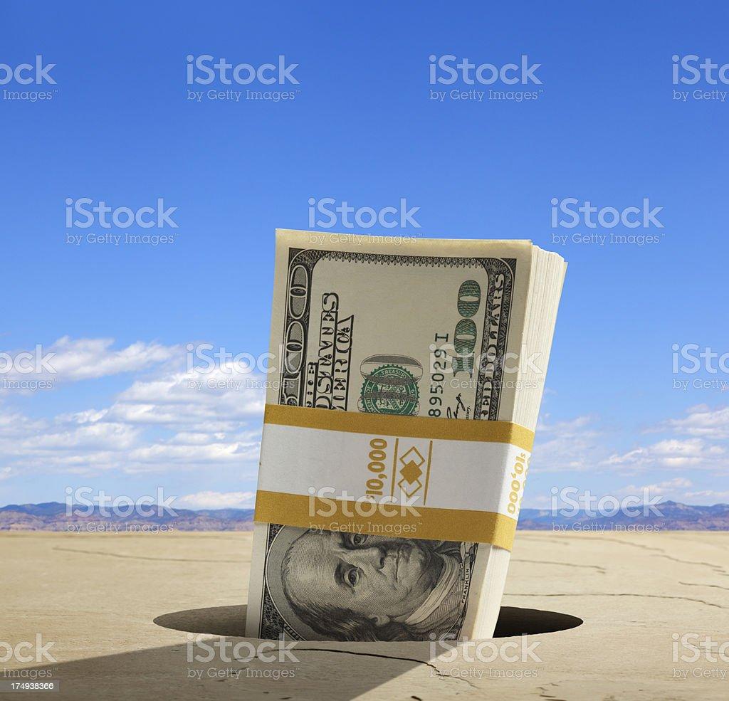Money Hole stock photo
