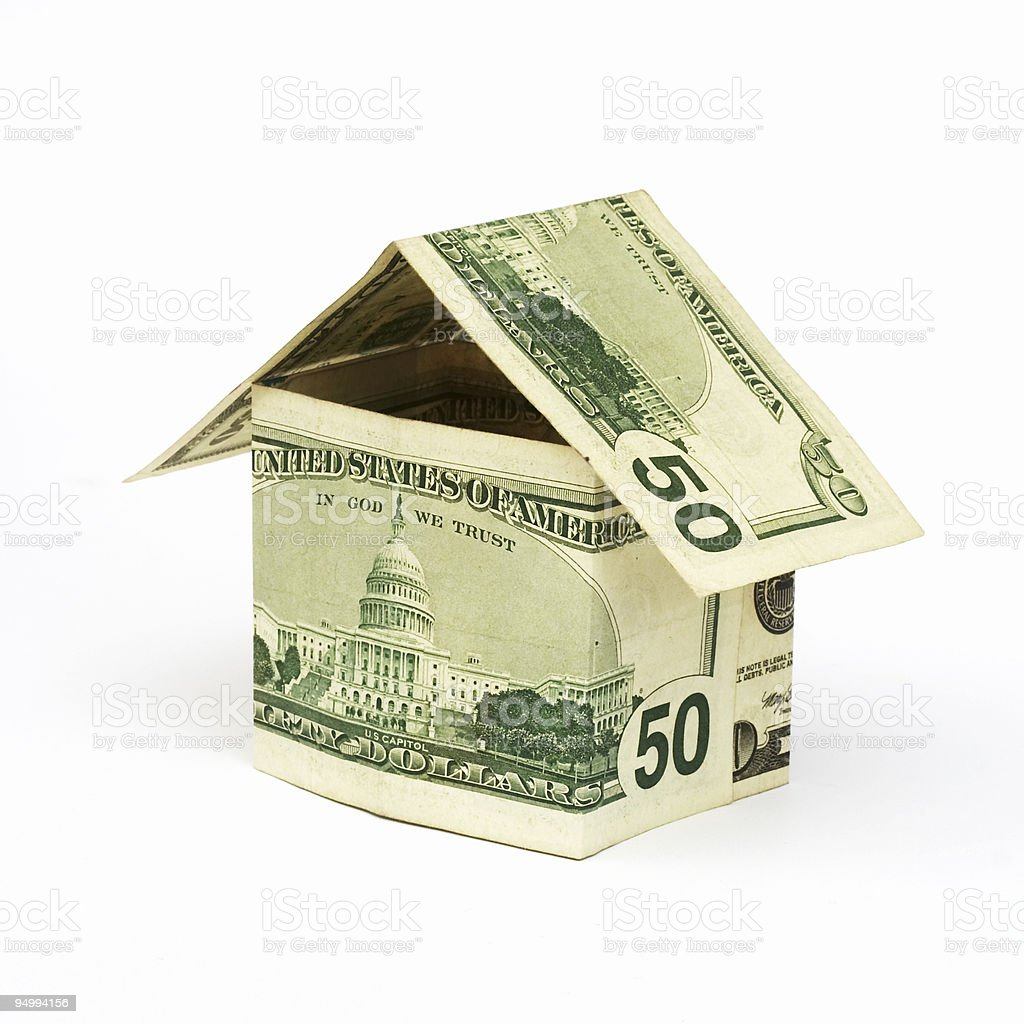money house made from dollar bills royalty-free stock photo
