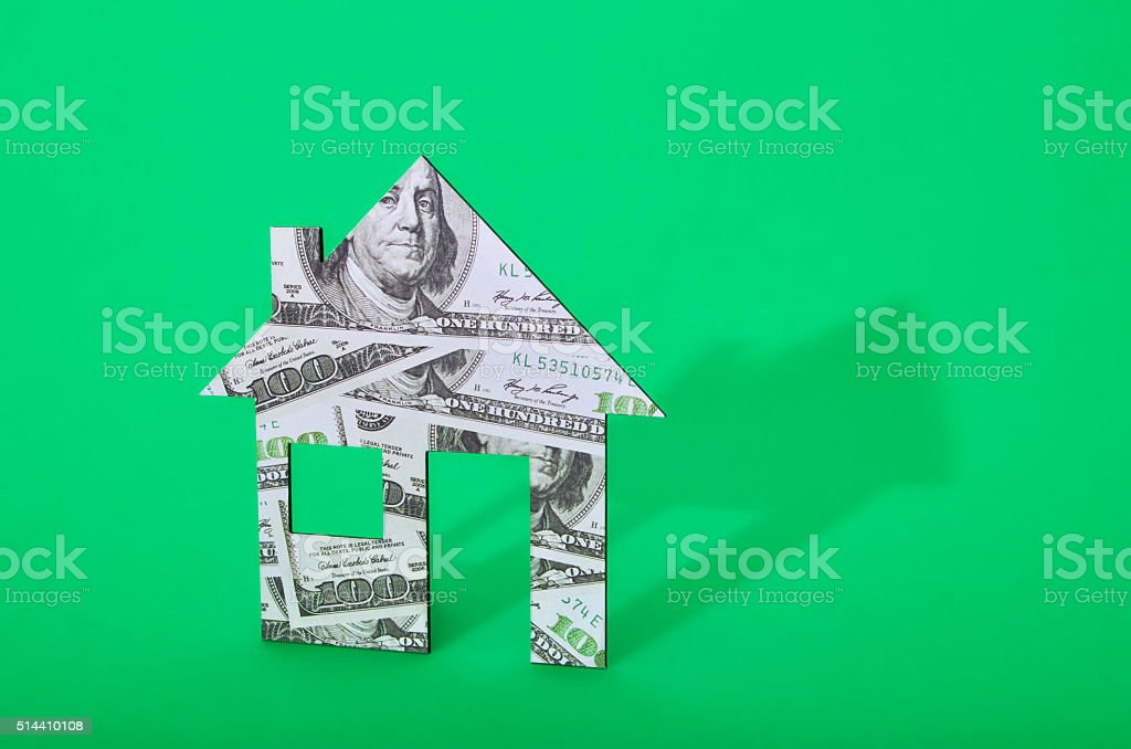Money house stock photo