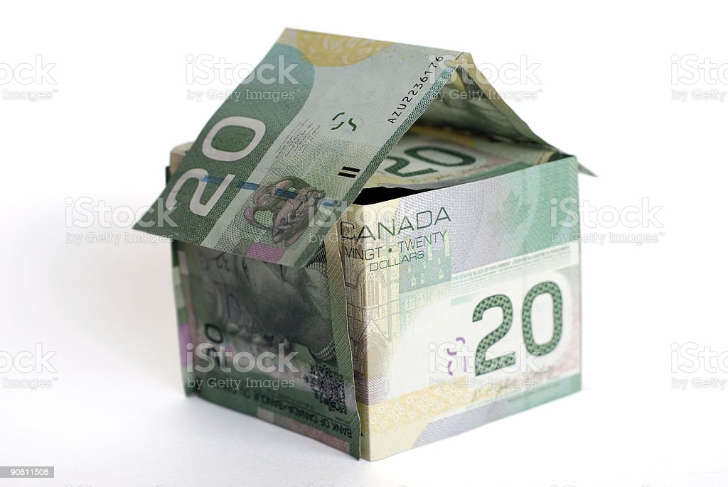 Money house royalty-free stock photo