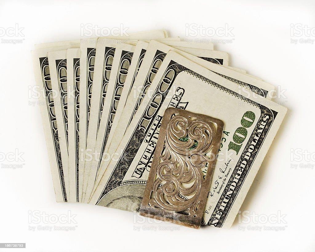 Money in a clip stock photo