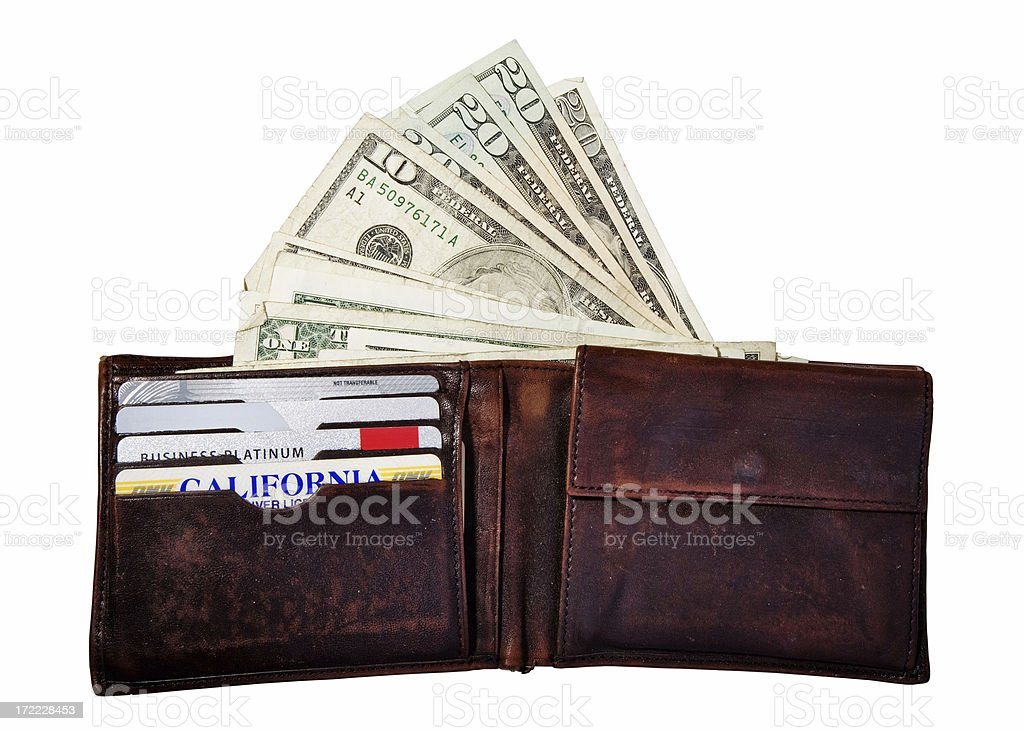 Money in a Wallet royalty-free stock photo