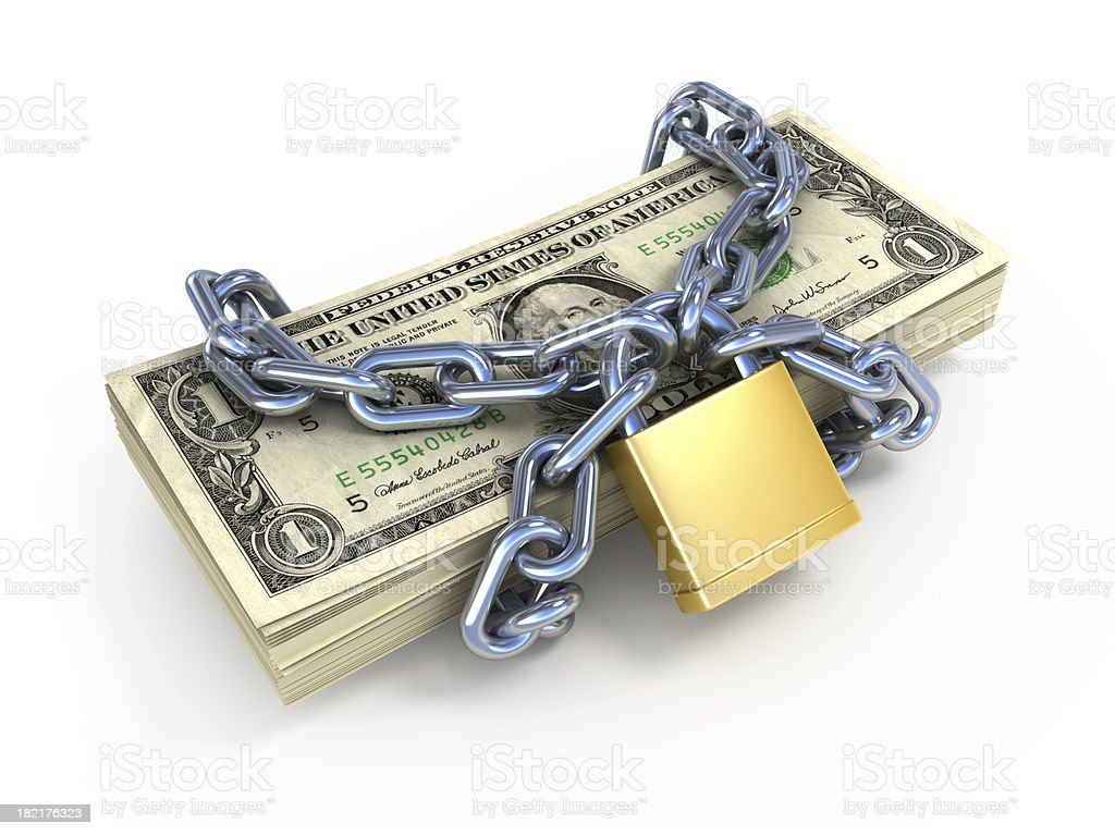 money in chain royalty-free stock photo