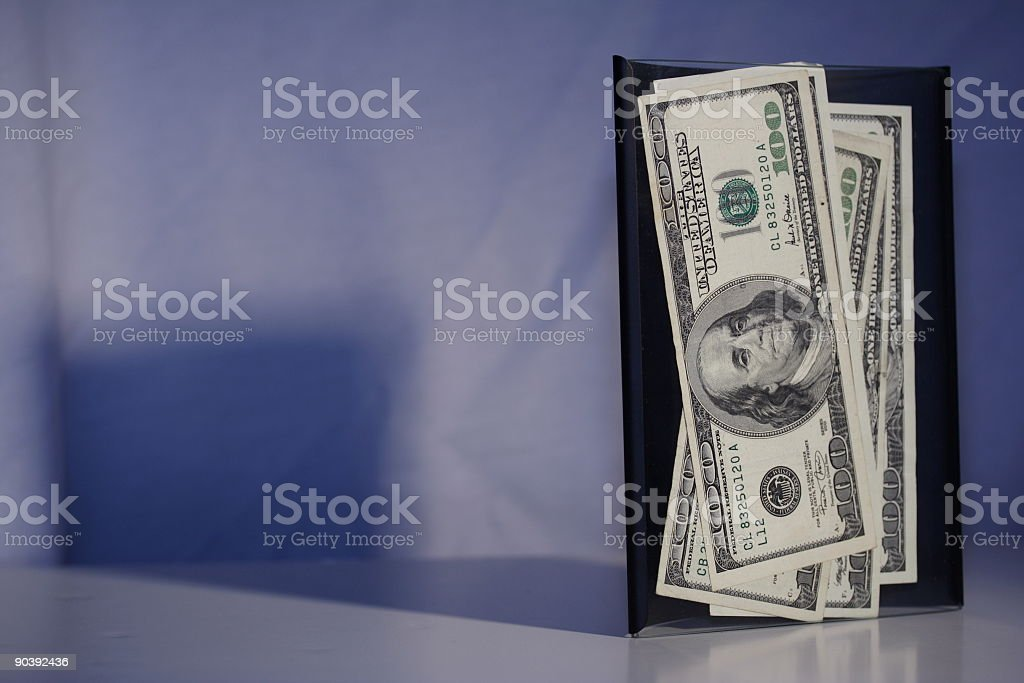 Money in frame with shadow royalty-free stock photo