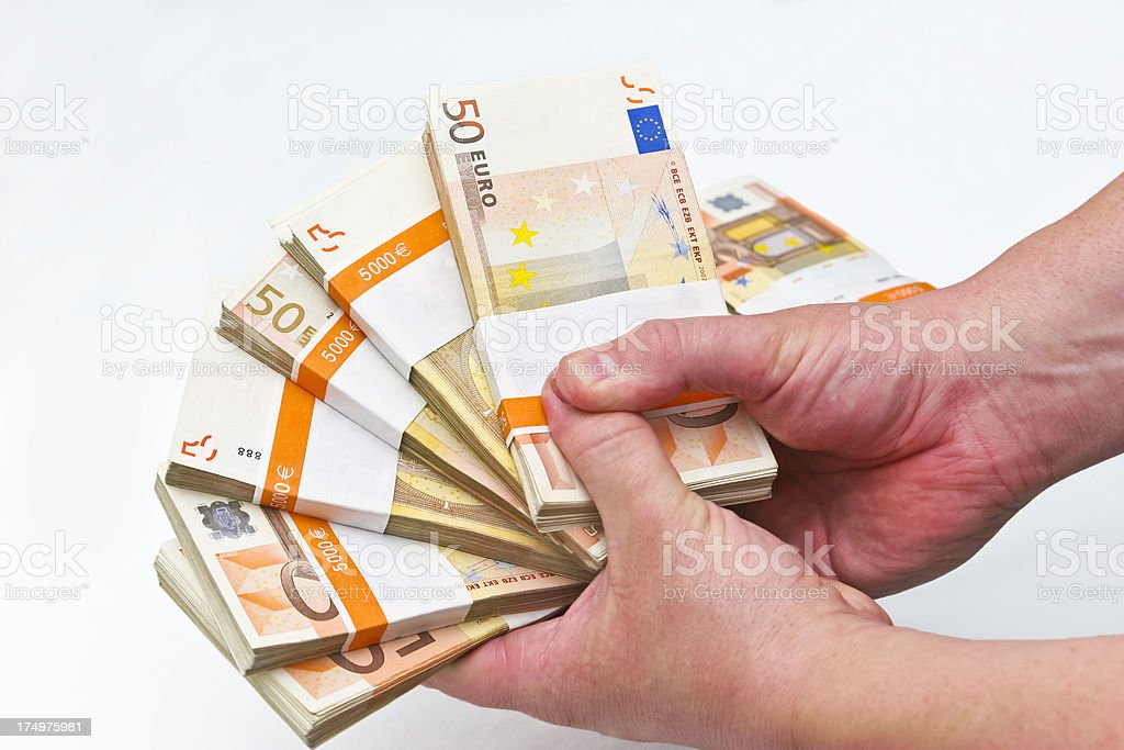Money in Grip royalty-free stock photo