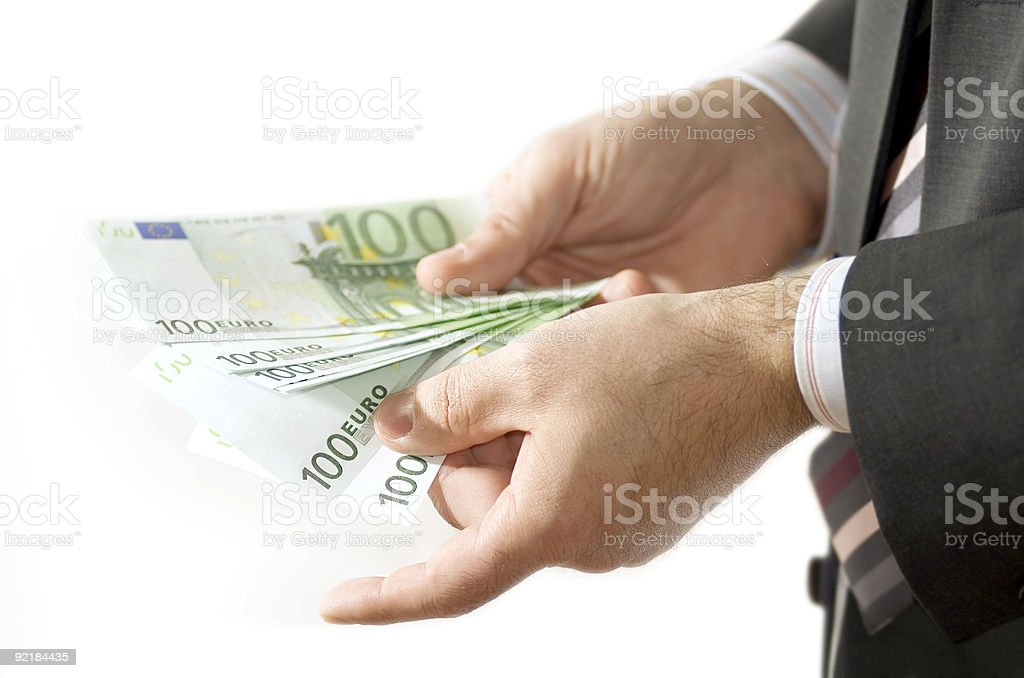 money in hands royalty-free stock photo