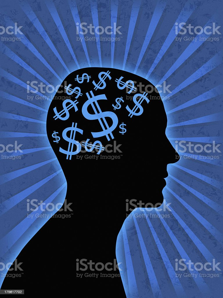 money in head royalty-free stock photo