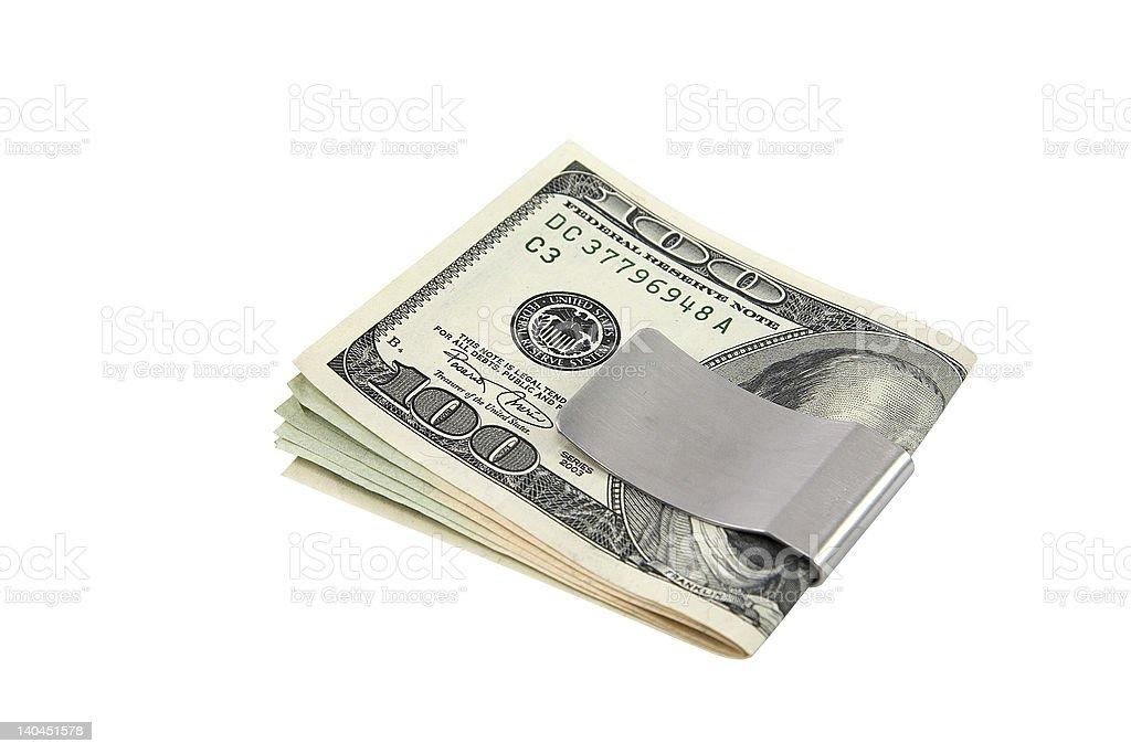 Money in moneyclip stock photo