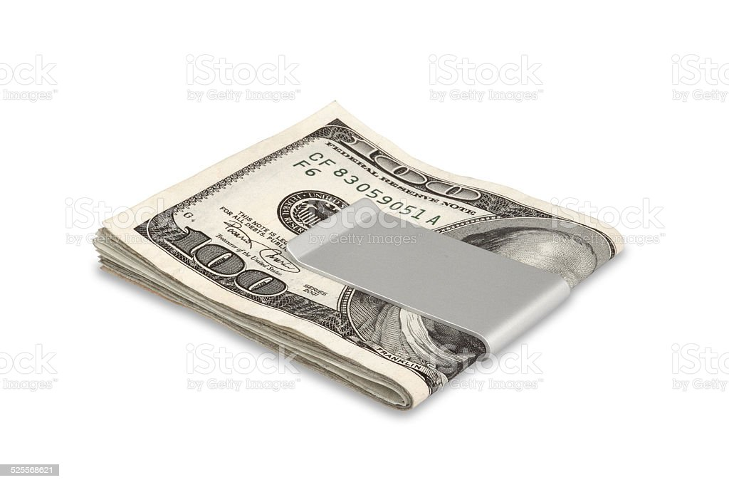 Money in moneyclip - Stock Image stock photo