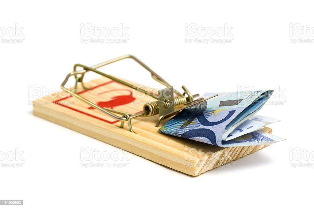 money in mousetrap royalty-free stock photo