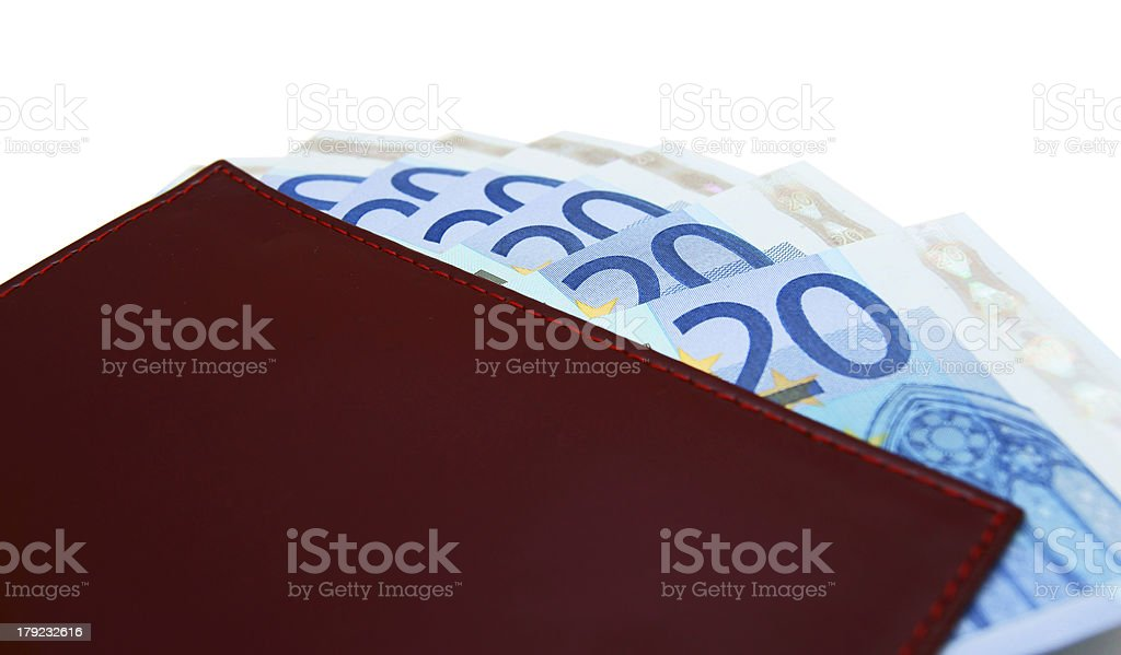 Money in purse. royalty-free stock photo