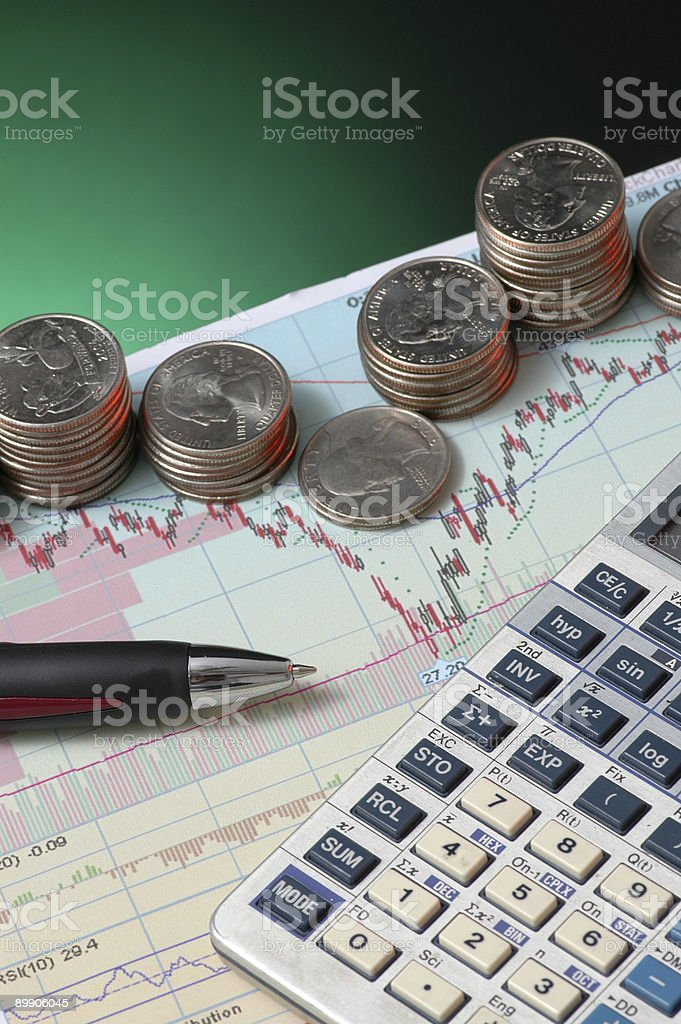 Money in Stocks and Bonds stock photo