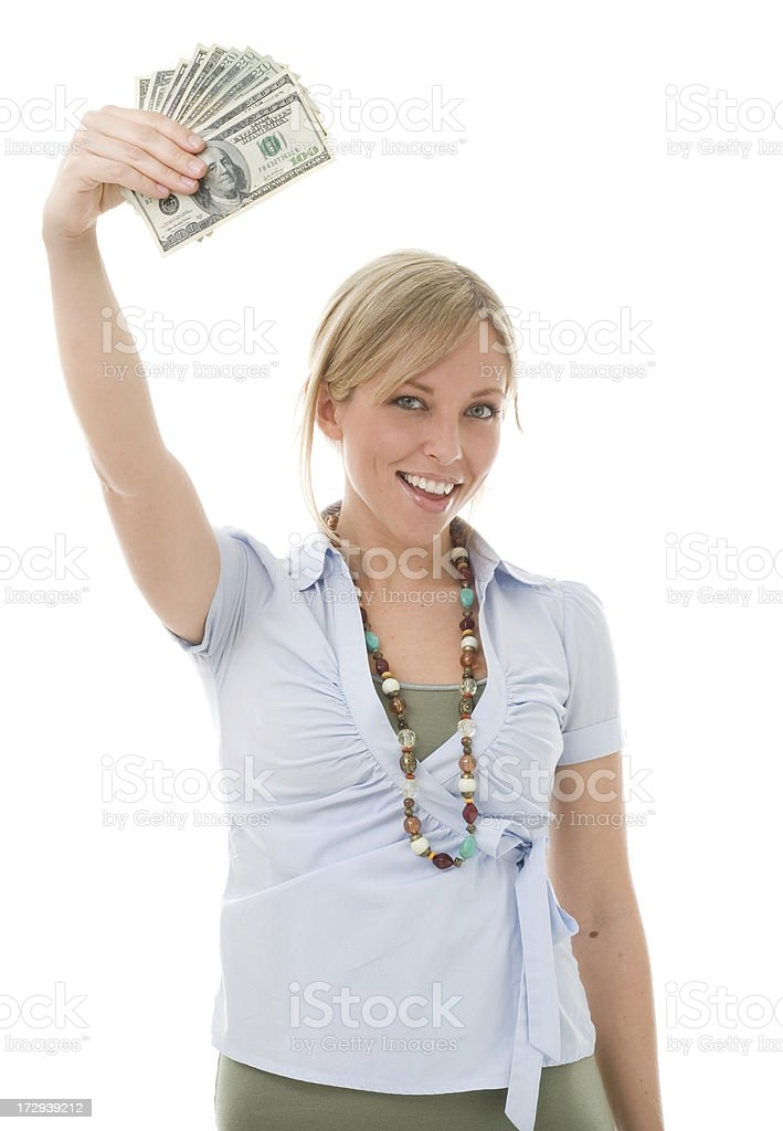 Money in the air. royalty-free stock photo