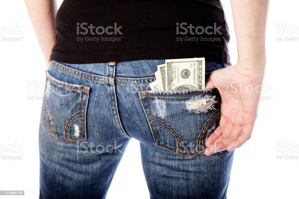 Money in the Back Pocket stock photo