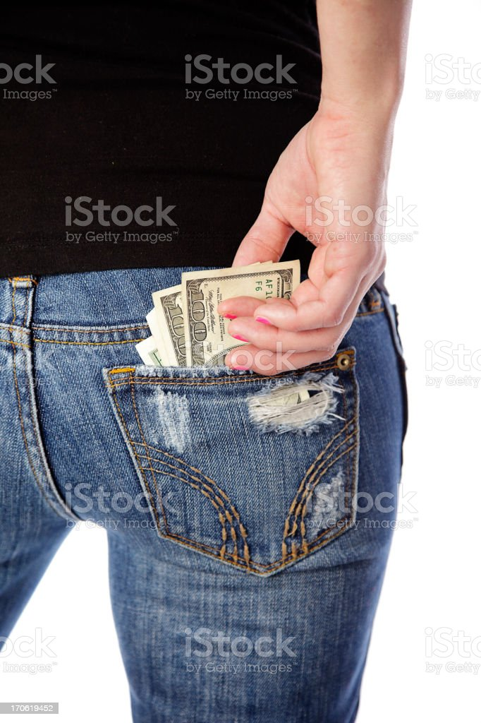Money in the Back Pocket royalty-free stock photo