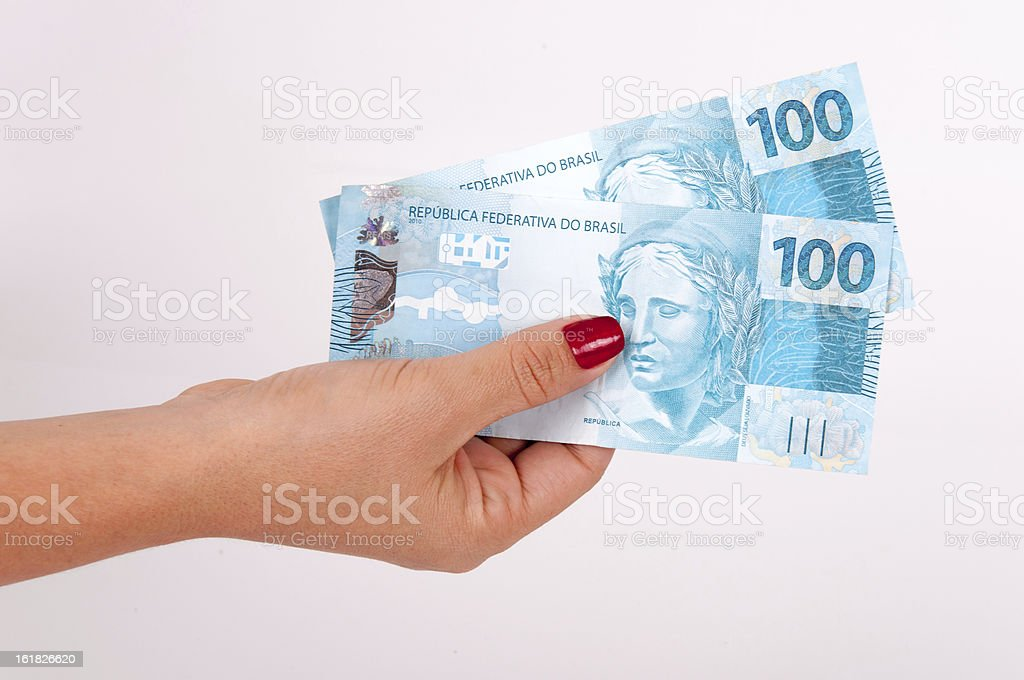 Money in the hands stock photo