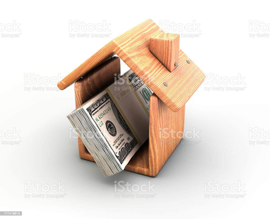 money in the house royalty-free stock photo