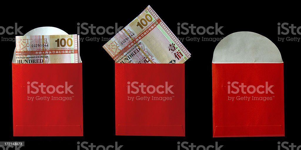 Money in the pack royalty-free stock photo