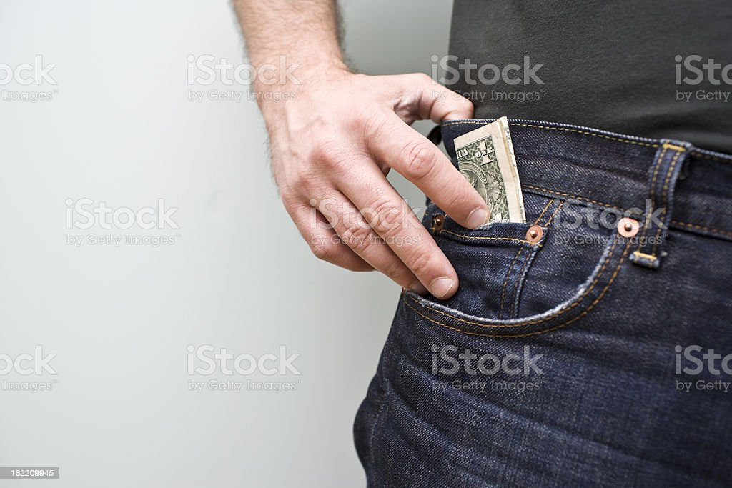 Money in the Pocket stock photo