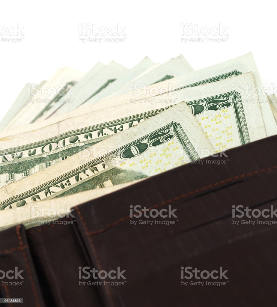 Money in the wallet royalty-free stock photo