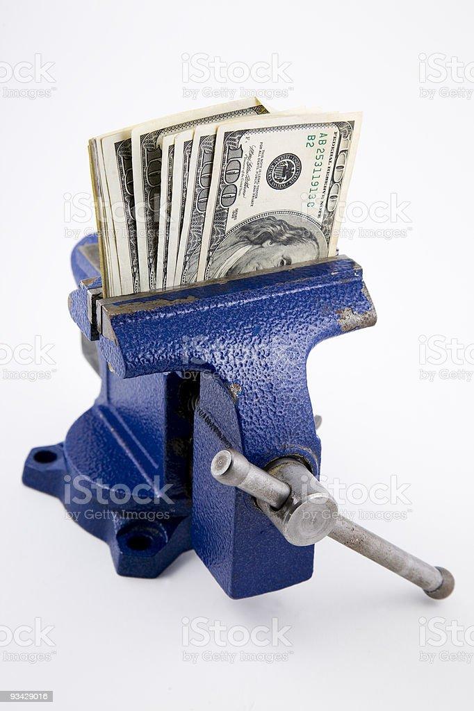 Money in Vise stock photo